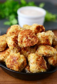 Crunchy Baked Coconut Chicken Nuggets with Spicy Dipping Sauce