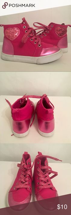 Gymboree Pink Glitter High Top Sneakers Little wear and some scuffs on side of shoes Gymboree Shoes Sneakers