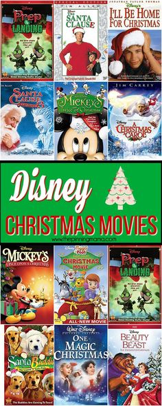 The BIG List of Disney Christmas Movies!