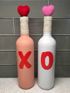 A personal favorite from my Etsy shop https://www.etsy.com/listing/263538304/valentines-day-wine-bottle-decor