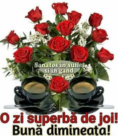 Imagini buni dimineata si o zi frumoasa pentru tine! - BunaDimineataImagini.ro Good Morning, Floral Wreath, Wreaths, Joi, Happy Day, Pictures, Italia, Buen Dia, Floral Crown