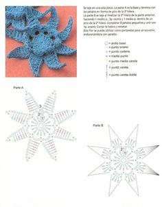 Ideas para el hogar: Guìa en crochet flores en ganchillo 56 diseños a todo color