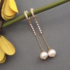 Tika Jewelry, Hair Jewelry, Pearl Jewelry, Jewellery, Handmade Necklaces, Handmade Jewelry, Gold Necklace, Jewelry Making, Earrings