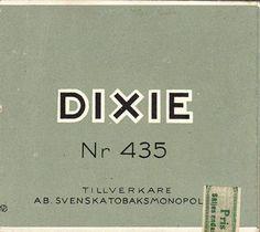 Dixie Nr 435 Svenska Tobaksmonopolet