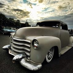 Chevy truck: slammed, bagged, and chopped