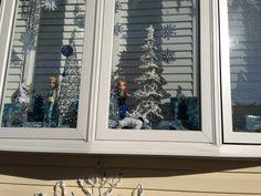 Christmas window frozen theme