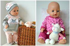 37 teiliges Schnittmuster - Paket als Ebook für 38 bezaubernde Modelle und vielen vielen Kombinationsmöglichkeiten ~~~~ Grundausstattung ~~~~ passend für folgende Puppen: Baby Born 43cm Maxi Muffin von Götz 42cm und laut Kundenaussagen auch der Krümel 43cm Die Puppenschnitte sind so geschnitten, dass auch die Kleinen Puppenmamis ihre Puppen selbstständig An- und Ausziehen können. Es gibt keine Knöpfe, keinen Reißverschluss - Alles mit Klettverschluss. Die Schnitte sind: 1.in Origina...