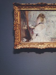 Currently in an exhibition in the National Gallery, London. Fabulous painting. On loan From The Art Institute of Chicago Woman at her toilet, Berthe Morisot. The Art Institute of Chicago | John Troxel