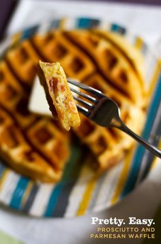 Pretty. Easy. Prosciutto and Parmesan Waffles with Black Pepper Maple Syrup © aidamollenkamp.com