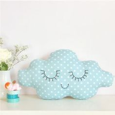 Pink Cloud Cushion - Kids Cushions - Zu - Petit Home