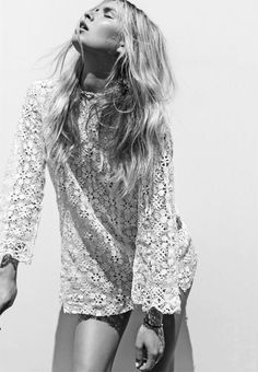 Shift dress with long large sleeves - boho feel Fashion Mode, Boho Fashion, Dress Fashion, Style Fashion, Bohemian Style, Boho Chic, Mode Boho, Inspiration Mode, Mannequins