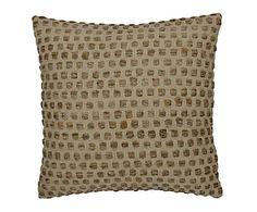 Cojín de seda y algodón Dot - 45x45 cm