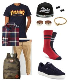 Untitled #2 by taylor474474 on Polyvore featuring polyvore, Ray-Ban, Puma, Vitaly, American Eagle Outfitters, Vans, Uniqlo, ASOS, fashion, style and clothing