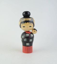 Vintage kokeshi doll DESCRIPTION This is hand painted. SIZE: Approx. H17.5cm(7in) CONDITION Minor scratches and dirt. Look at all enlarged photos carefully and if you are unsure of anything please ask. SHIPPING The shipping cost listed for this item is for ECO SAL WITH TRACKING NUMBER. It takes around 2/3 weeks to arrive (Up to 12 weeks for some countries). There is NO INSURANCE. If youd like a faster delivery, please select the EMS shipping upgrade corresponding to your country. EMS ...