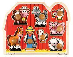 Melissa & Doug Jumbo Knob Wooden Farm Puzzle           ($15.99)