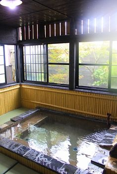 Echigokawa hot spring, Fukuoka, Japan my kinda bath to go with after eating yummy sushi