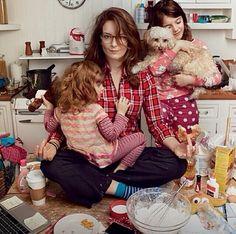 Tina Fey American Express ad shot by Annie Leibovitz m/up by Gita Bass hair by Richard Marin