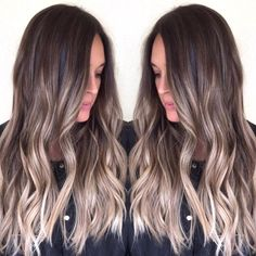 70 flattering balayage hair color ideas for 2019 ombre hair Balayage Hair Blonde, Brown Balayage, Brunette Hair, Dark Brunette, Brown Hair With Blonde Ends, Dark Brown Blonde Balayage, Subtle Balayage, Hair Color Highlights, Balayage Highlights