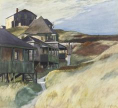 Edward Hopper: Shacks at Pamet Head, Ashcan School, Modern art, Realism. American Realism, American Artists, Manet, Pablo Picasso, Toulouse, Edward Hopper Paintings, Ashcan School, Robert Rauschenberg, Impressionism