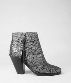 Womens New Jonas Boot (Black Silver) | ALLSAINTS.com