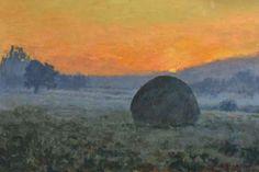 Stóg o świcie Wojciech Górecki Painting, Painting Art, Paintings, Painted Canvas