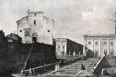 Santa Maria in Aracoeli et Piazza del Campidoglio, Canaletto ( ? , date indéterminée)