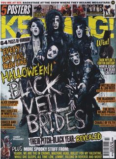 The beautiful members of the Black Veil Brides grace the cover of Kerrang! Magazine.