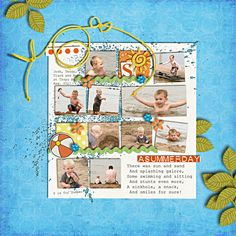Layout by Sahlin Studio #scrapbooking