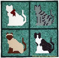 Use our versatile kitty blocks to create pillows, wall quilts, tote bags and more.