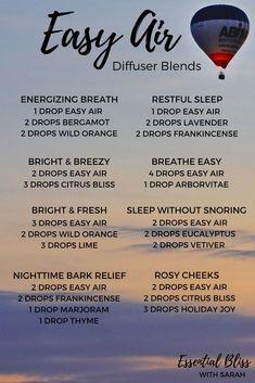Easy Air Diffuser Blends | Breathe Diffuser Blends | dōTERRA Essential Oils