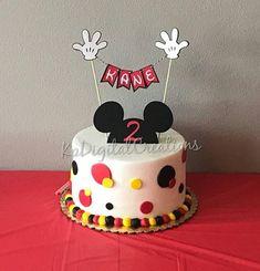 Gorgeous Wedding Cake Fresh Flowers Combo You Will Love – Bridezilla Flowers Mickey Birthday Cakes, Mickey First Birthday, Mickey Cakes, First Birthday Cakes, Birthday Cake Toppers, 2nd Birthday, Mickey Mouse Cake Topper, Mickey Mouse Cupcakes, Fiesta Mickey Mouse