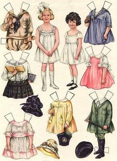 paper dolls through the years have delighted little girls, but I am not sure this generation even know what they are. Oh wait! Maybe they have an app for them!
