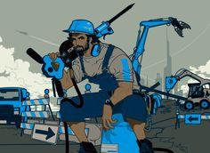 Break Through For The Future - Baron Ueda Illustrators, Bike, Baron, Image, Artists, Future, Bicycle, Future Tense, Artist
