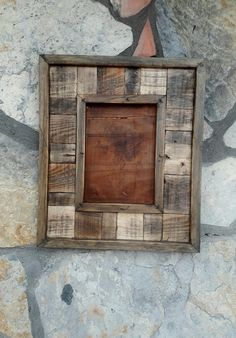 rustic handmade wood frame, decorative wood frame, woodframe, antique look wood frame by Vegacity on Etsy Barn Wood Crafts, Reclaimed Wood Projects, Diy Wood Projects, Repurposed Wood, Salvaged Wood, Barn Wood Picture Frames, Picture On Wood, Wood Frames, Pallet Frames
