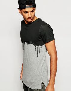 Image 1 ofJack & Jones T-Shirt With Dripping Paint Print