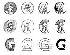 Logo design process by Lukasz Ruszel Design Typo, Icon Design, Branding Design, Graphic Design, Design Case, Best Logo Design, Logo Branding, Logo Process, Design Process