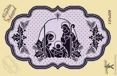 Christmas Rugs, Christmas Paper Crafts, Christmas Knitting, Filet Crochet Charts, Crochet Diagram, Crochet Patterns, Cross Stitch Angels, Cross Stitch Bookmarks, Sunburst Granny Square