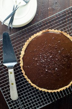 This bittersweet chocolate tart with shortbread crust is rich and wonderful and not overly sweet. Its simple elegance never gets old.