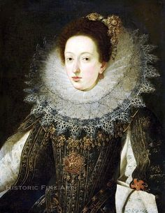 FLEMISH SCHOOL (Early 17th Century) Portrait of a Noble Woman, circa 1620-1630