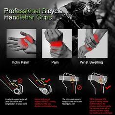 TRENDBOX Ergonomic Design Rubber Bike Bicycle Handlebar Comfort MTB Grips Anti-Slip Mountain Cycling
