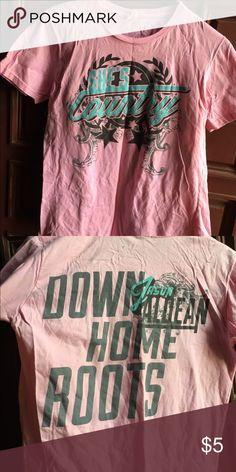 Women's Pink Jason Aldean T-shirt Size Adult Medium Tops Tees - Short Sleeve