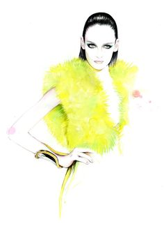 Caroline Andrieu fashion illustrations