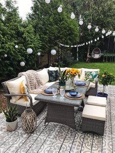 A Little Bit Of Garden Luxury With Argos Home* - Melanie Jade Design Rattan Garden Furniture, Outdoor Furniture Sets, Deck Furniture, Antique Furniture, Outdoor Spaces, Outdoor Living, Outdoor Decor, Backyard Patio, Backyard Landscaping