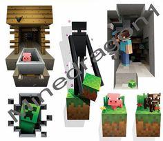 Minecraft Wall Cling Decal Sticker Vinyl Kids Decor 3D Art Toy Room Decals Steve #Minecraft #Modern