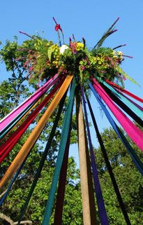 Wheel of the Year: Beltane Maypole representing fertility - One of my favourite activities as a child in primary school, weird considering both the sexual context of Maypole dancing and that fact my primary school headmaster was very Christian.