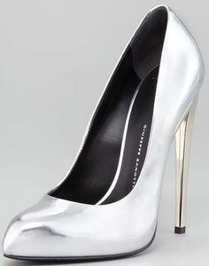Giuseppe Zanotti Mirror Heel Pumps in Silver