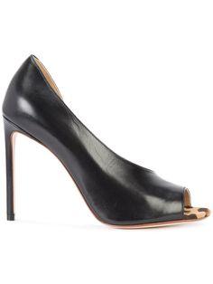 FRANCESCO RUSSO twisted cut stiletto pumps. #francescorusso #shoes #pumps