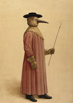A doctors habit from the time of the Black Plague.  Did you know people still get the plague today?
