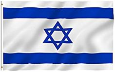 ANLEY [Fly Breeze] 3×5 Foot Israel Flag – Vivid Color and UV Fade Resistant – Canvas Header and Double Stitched – Israeli National Flags Polyester with Brass Grommets 3 X 5 Ft