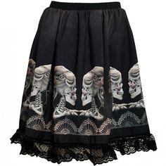 Cameo Skull Skirt, £37.99